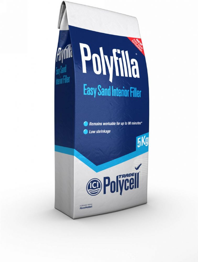 Polycell Trade Polyfilla Easy Sand Interior Filler 5Kg